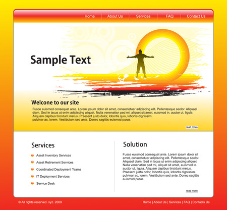 technology website template for more template of this type please visit my gallery Vector