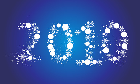 abstract new year 2010 Vector