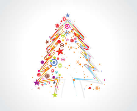 christmas background hand sketch line with space of your text Vector
