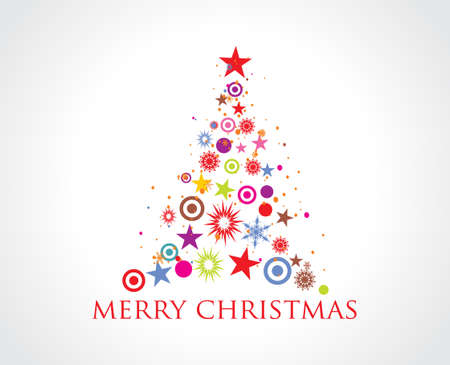 Abstract christmas tree on white background Stock Vector - 5771784