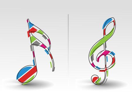 clef de fa: main attirer note de musique, plus les notes de musique s'il vous pla�t cheak mon portefeuille