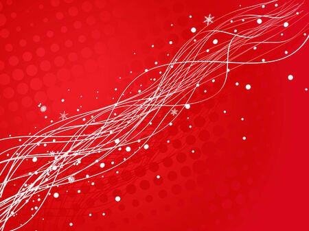 christmas background with wave line, vector illustration for xmas Vector