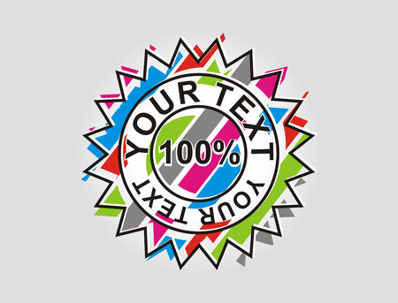 100% off sale tags with sapce of your text, vector illustration Stock Vector - 5802959