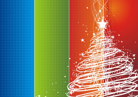 Abstract christmas tree on rainbow background Stock Vector - 5823435