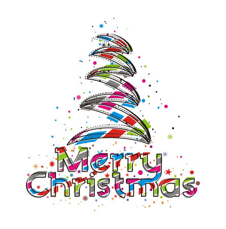 Abstract christmas tree on white background Stock Vector - 5823461