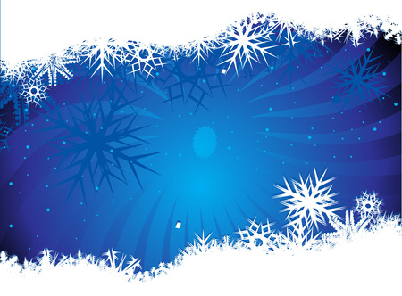 Abstract christmas snow on blue background Vector