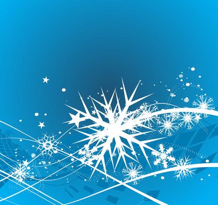 Abstract christmas snow on blue background, vector illustration for xmas Stock Vector - 5854078