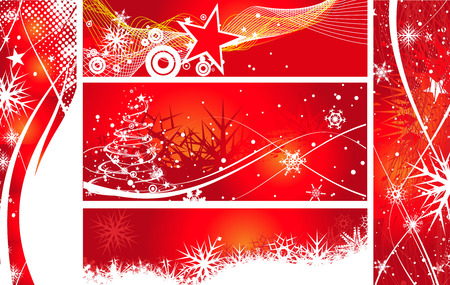 five different-2 type christmas banner, vector illustration for xmas Vector