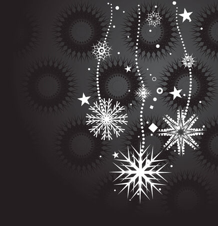 Abstract christmas snow on black background, vector illustration for xmas Stock Vector - 5854081