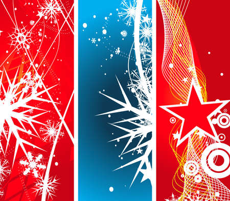 three different -2 type vector christmas banner , vector illustration for xmas Stock Vector - 5854085