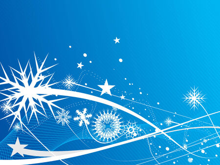 Abstract christmas snow on blue background, vector illustration for xmas Stock Vector - 5883854