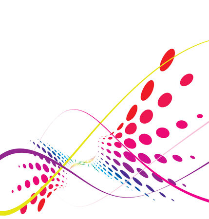 Abstract rainbow wave halftone line background, illustration Vector