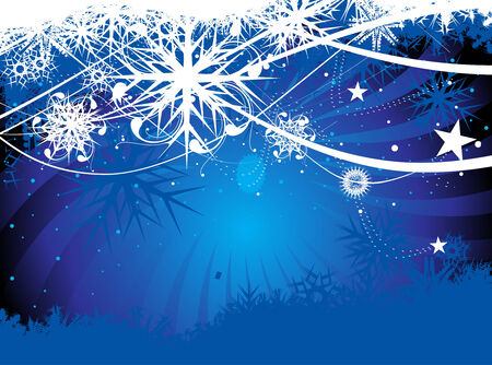 Abstract christmas snow on wave line background, illustration for xmas Stock Vector - 5928873