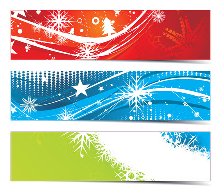 Abstract christmas Banners with space of your text, illustration for xmas Vector