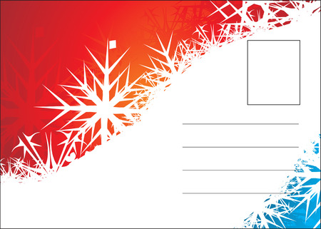 mailer: christmas post card with space of your text, vector illustration Illustration