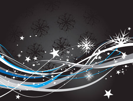 Abstract christmas snow on wave line background, vector illustration for xmas Vector