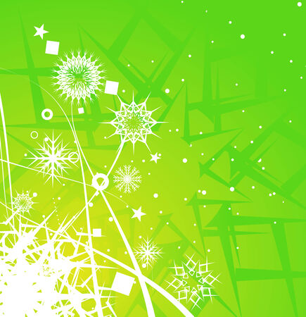 Abstract christmas snow on wave line background, vector illustration for xmas Stock Vector - 5970476