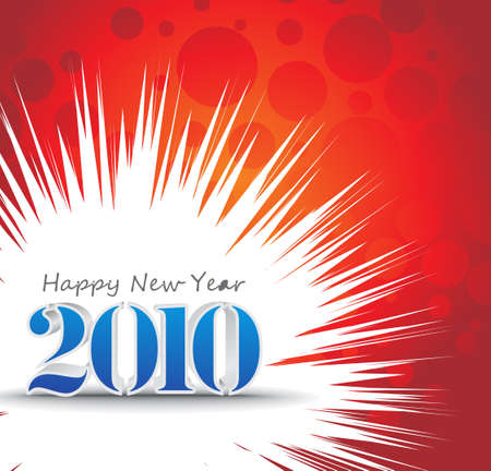 3d composition with 2010 new year vector design. vector illustration Stock Vector - 5987939
