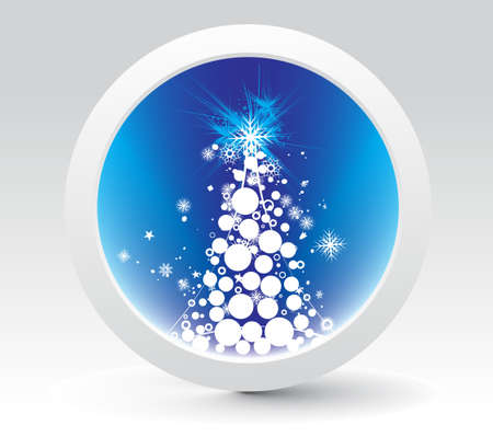 Abstract christmas tree icon background, vector illustration for xmas Stock Vector - 6035510