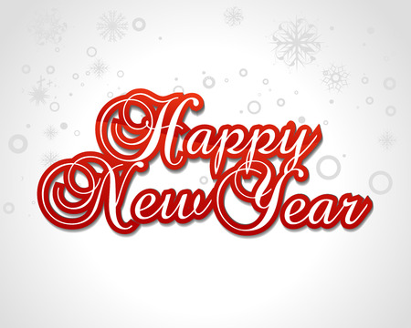 happy new year greeting card. vector illustration Stock Vector - 6035984