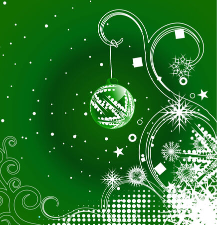 Abstract christmas snow on wave floral line background, vector illustration for xmas Stock Vector - 6092057