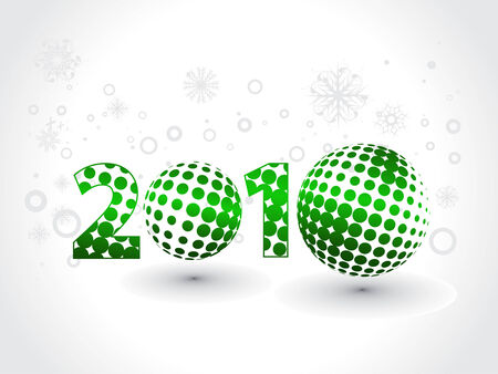 circul: Xmas snow background with  new year 2010  in white background. Vector illustration Illustration