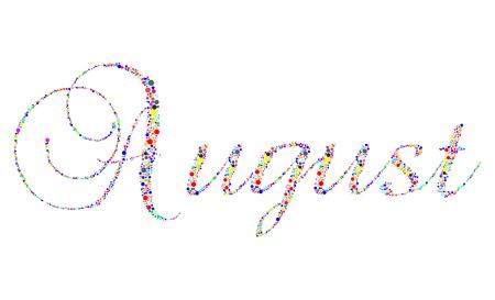 calendario septiembre: El mes de agosto en tipograf�a tipo sobre un fondo blanco.