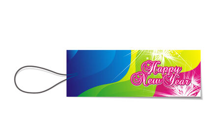 circul: sale tag with  new year 2010 background. Vector illustration