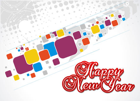 circul: grunge mosaic background with  new year 2010  background. Vector illustration