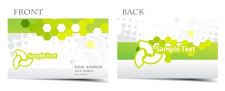 bijsluiter: Bezoek mijn galerie vector visitekaartje set, voor meer visitekaartje van dit type Stock Illustratie