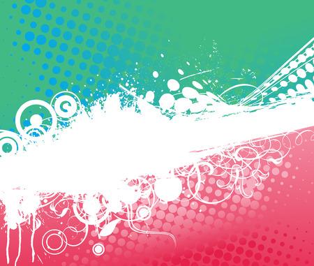 Grunge flower background with swirl waves, element for design, vector illustration Vector