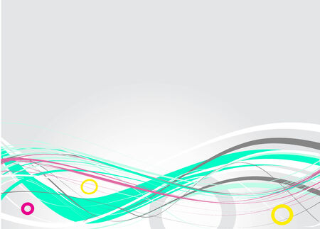 sample text: abstract rainbow wave line with sample text background, vector illustration