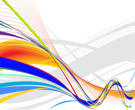 Abstract rainbow wave line background with space of your text, vector illustration Vector