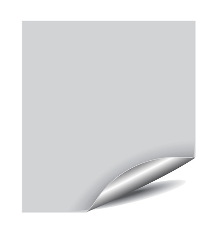 white page corner with space of your text Stock Vector - 6176633