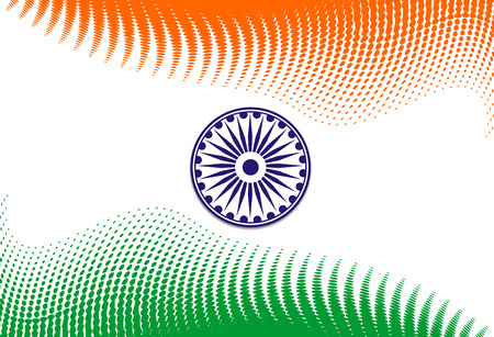 flag of India with white background, illustration Stock Vector - 6176638