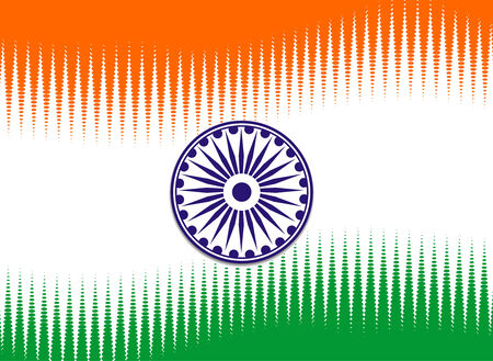 flag of India with white background, illustration Vector