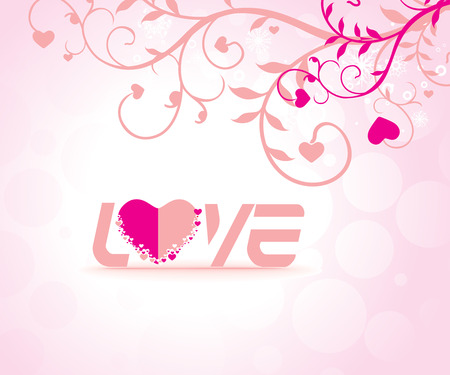 Abstract floal design in valentines day card - vector illustration  Vector