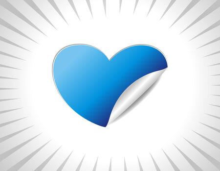 Valentine heart sticker icon,illustration Stock Vector - 6244305