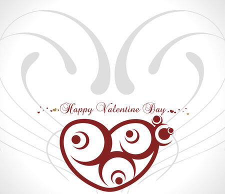 Abstract valentines day card with floral heart background, vector illustration Vector