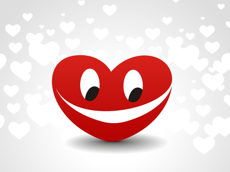 damaged: red hearts Smile shapes and styles on a white heart background, vector illustration
