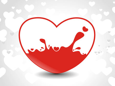 Abstract valentines day card with heart background, vector illustration Vector