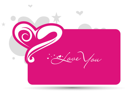 Abstract valentines day card with space of your text, vector illustrationn Vector