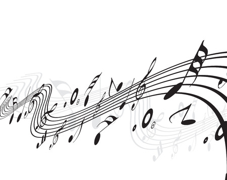 concerto: Music notes  for design use, illustration