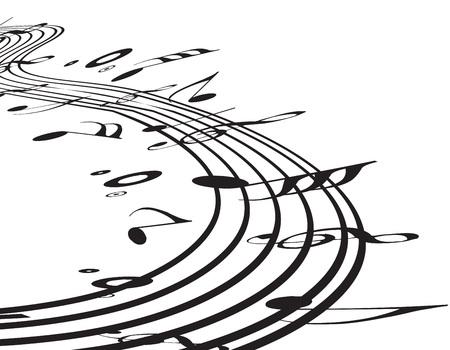pentagrama musical: Utilizar notas de m�sica para el dise�o, ilustraci�n
