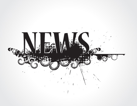the latest: abstract grunge news icon its not trade mark newspaper. illustration