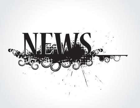 icone news: abstraite grunge news ic�ne son non journal de marque de commerce. illustration