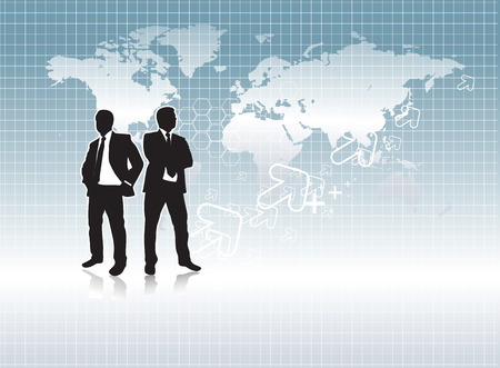 A business people are going work experience, conceptual business Vector