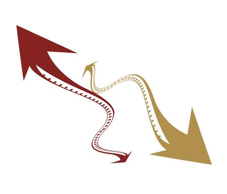 abstract arrows icon.  Vector
