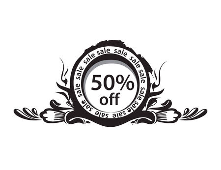 5o% discount banner, shopping concept vector Illustration Image Vector