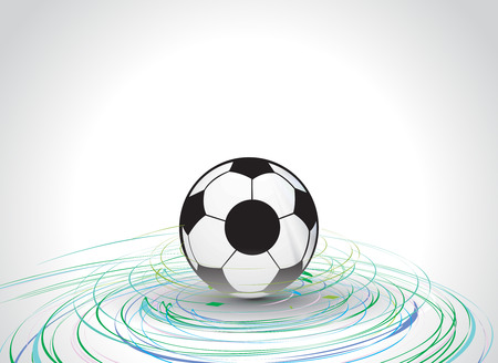 cyclonic: 3d style vector football with cyclone wave line  background, vector illustration Illustration